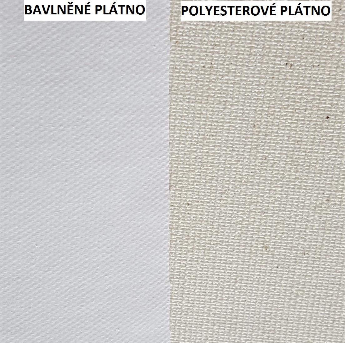 Srovnání struktury a barevnosti obou typů pláten vidíte na obrázku.